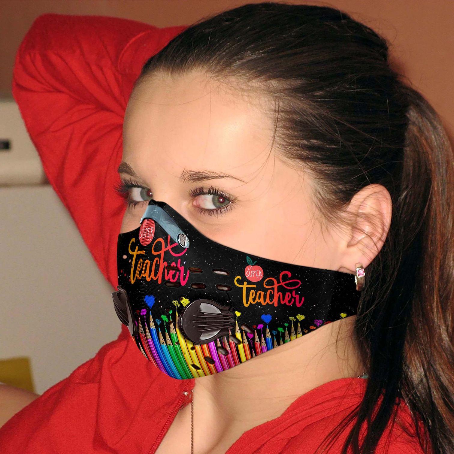 Super teacher carbon pm 2,5 face mask 3