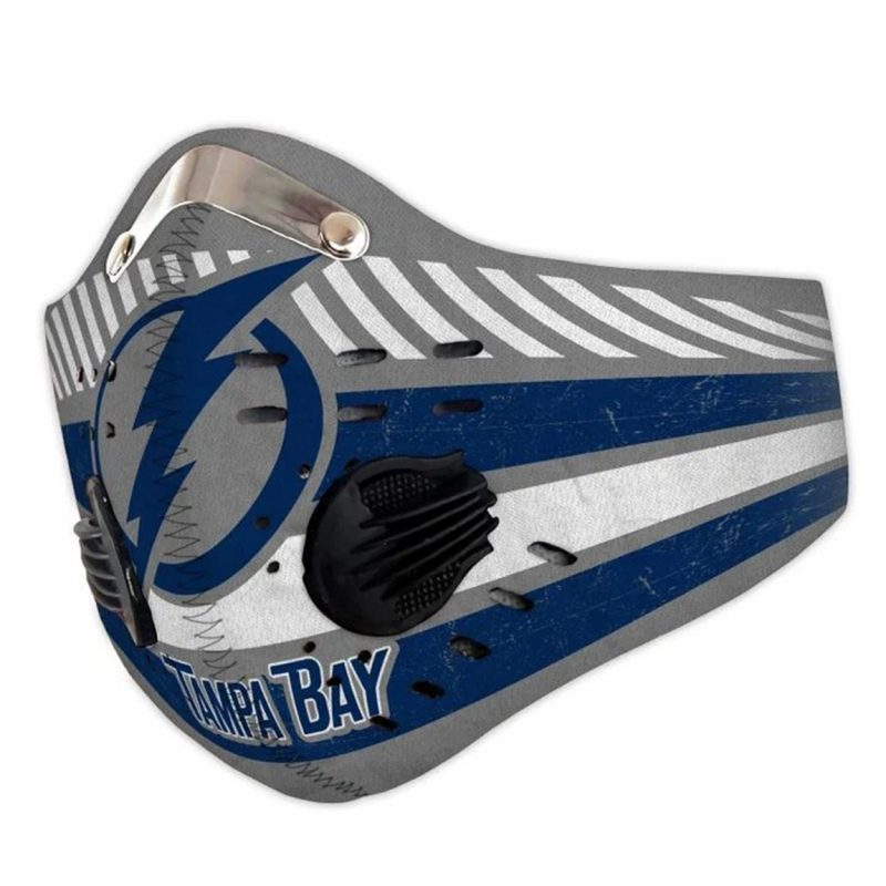 Tampa bay lightning filter activated carbon face mask 4