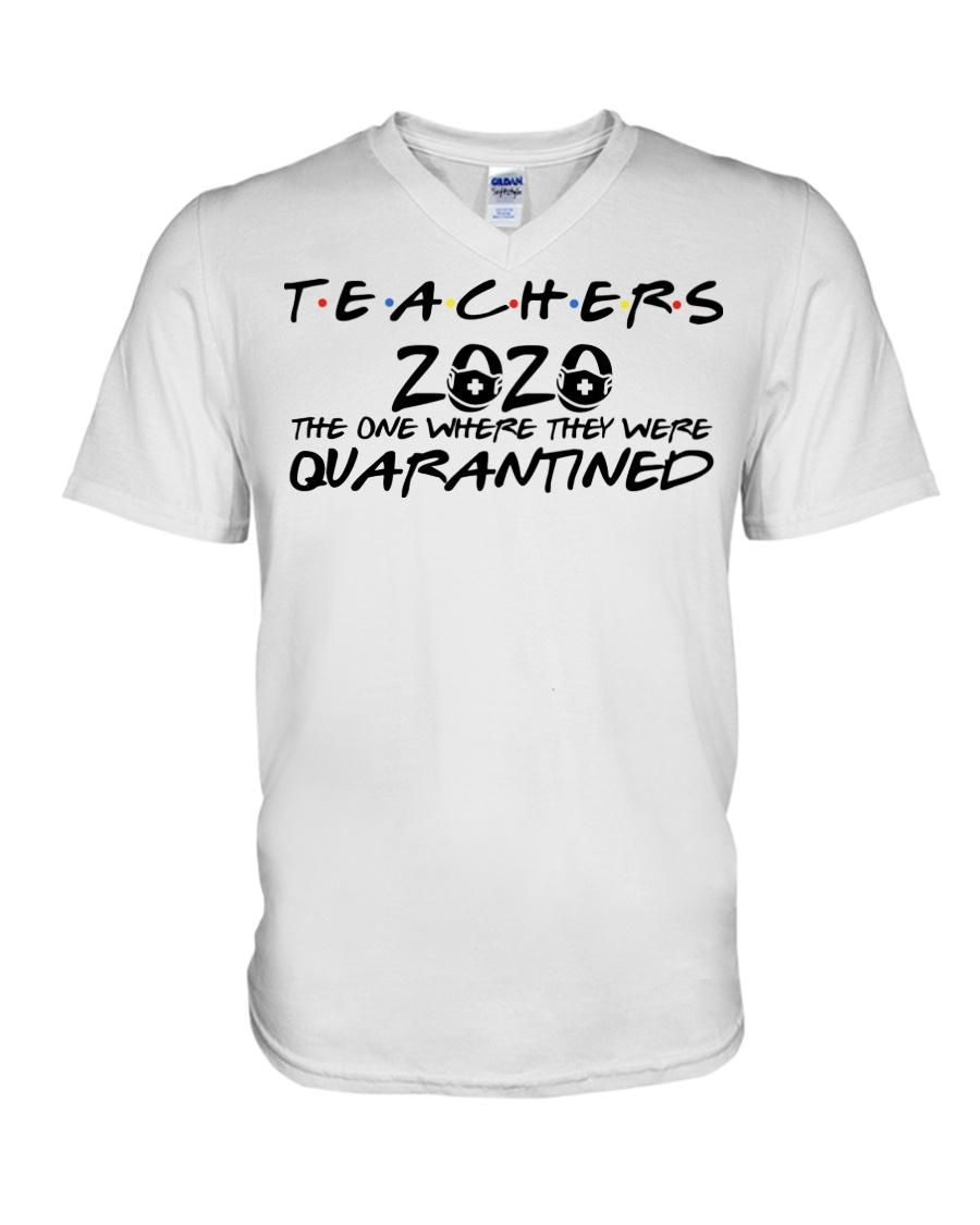 Teacher 2020 the one where they were quarantined friends tv show v-neck
