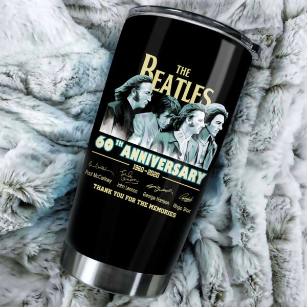 The beatles 60th anniversary steel tumbler 1