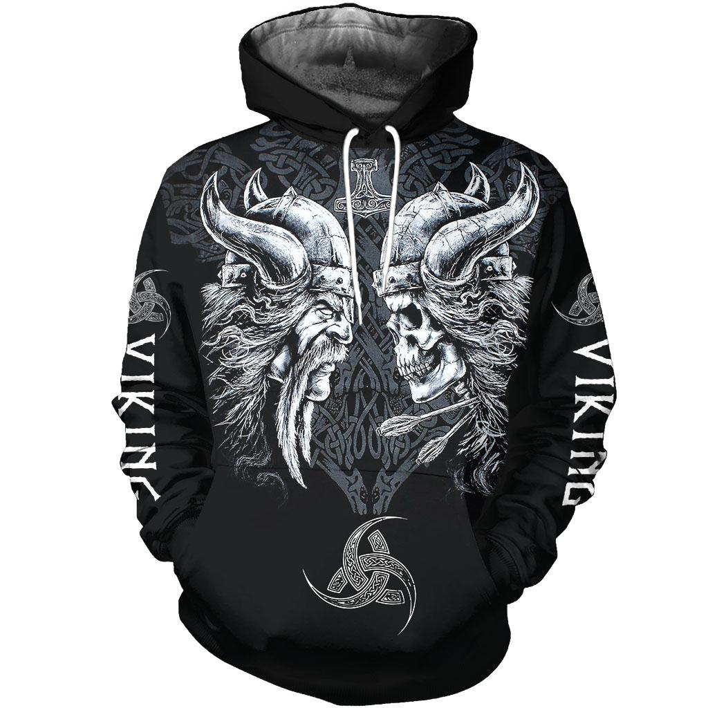 The viking skull full over print hoodie