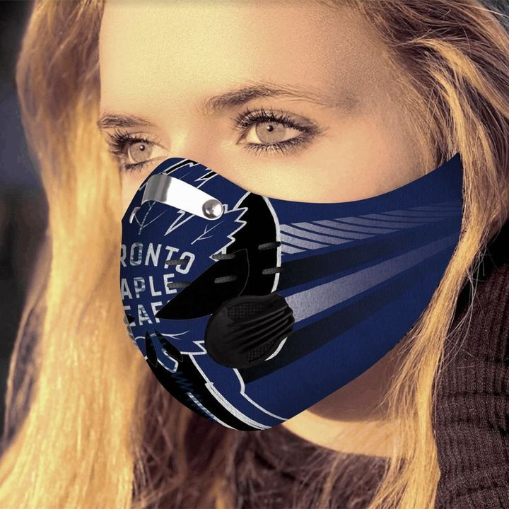 Toronto maple leafs filter activated carbon face mask 2