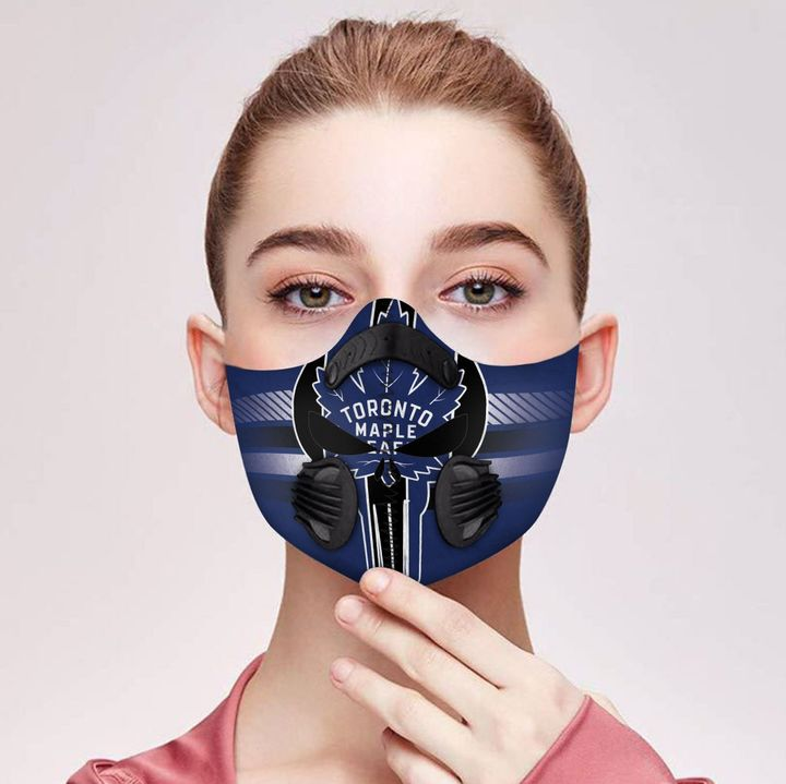 Toronto maple leafs filter activated carbon face mask 4