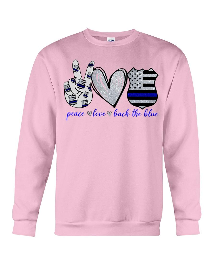 USA police peace love back the blue sweatshirt
