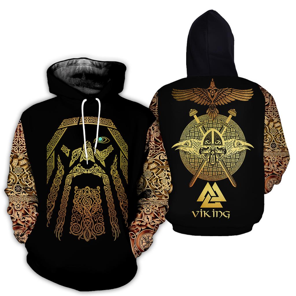 Viking odin full over print hoodie
