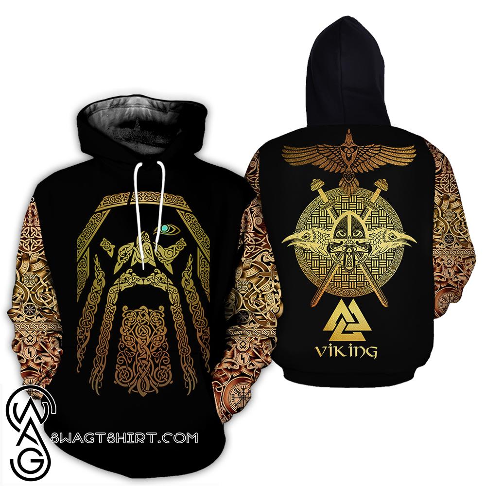 Viking odin full over print shirt