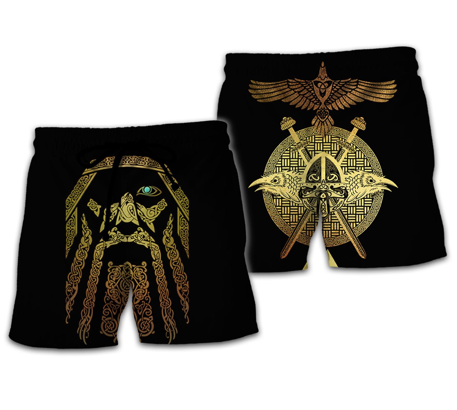 Viking odin full over print shorts