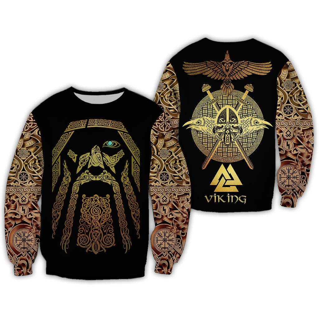 Viking odin full over print sweatshirt