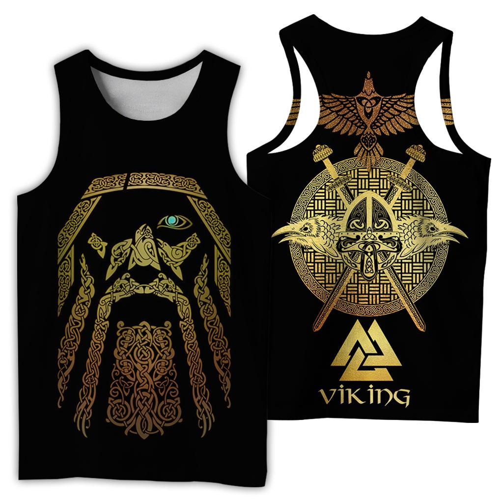 Viking odin full over print tank top