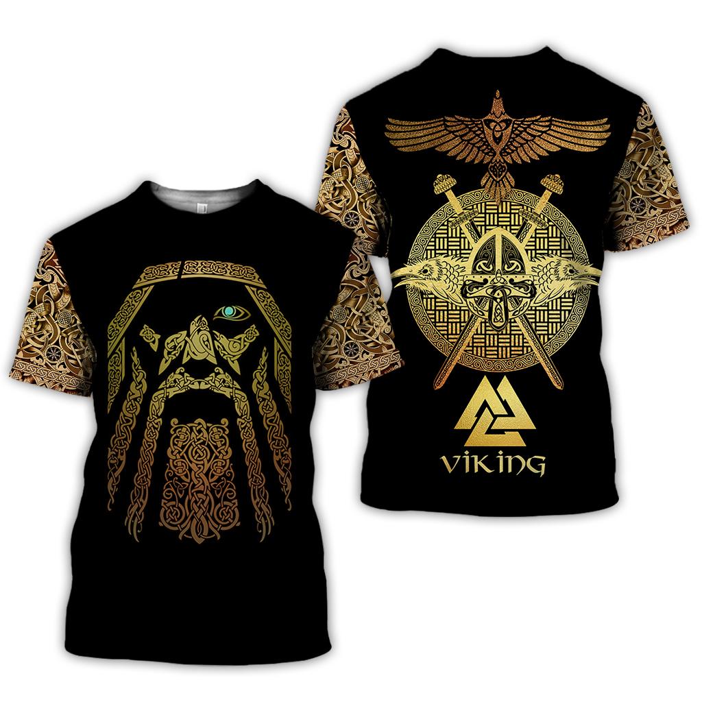 Viking odin full over print tshirt
