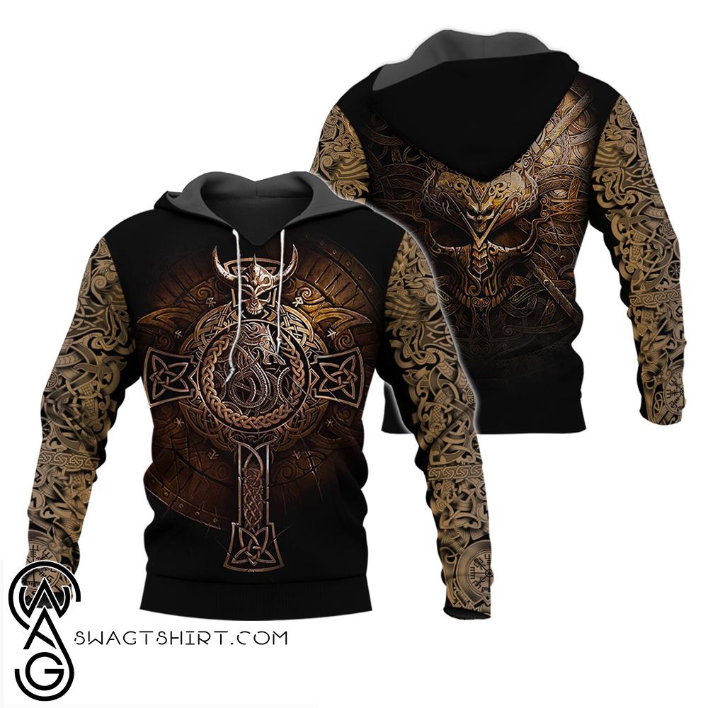 Viking shield full over print shirt
