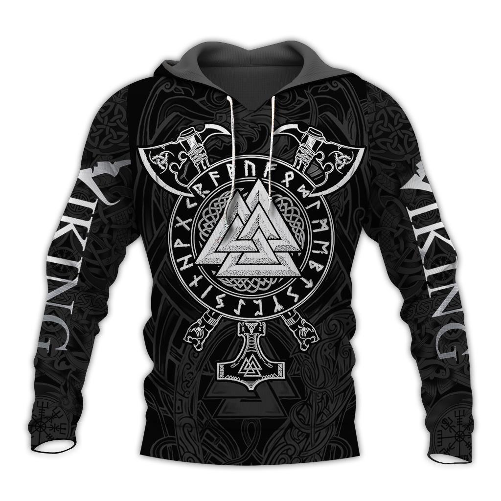 Viking valknut full over print hoodie