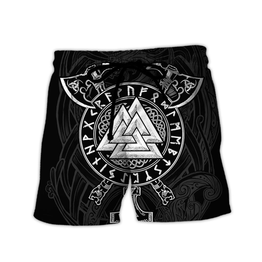 Viking valknut full over print shorts