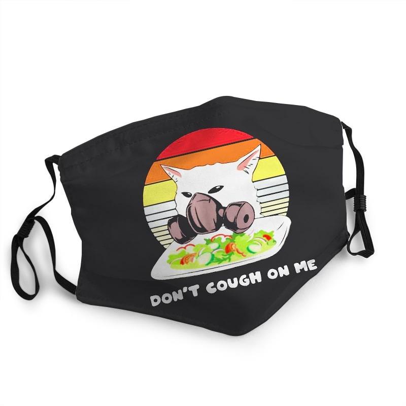 Vintage cat don't cough on me coronavirus anti-dust face mask 2