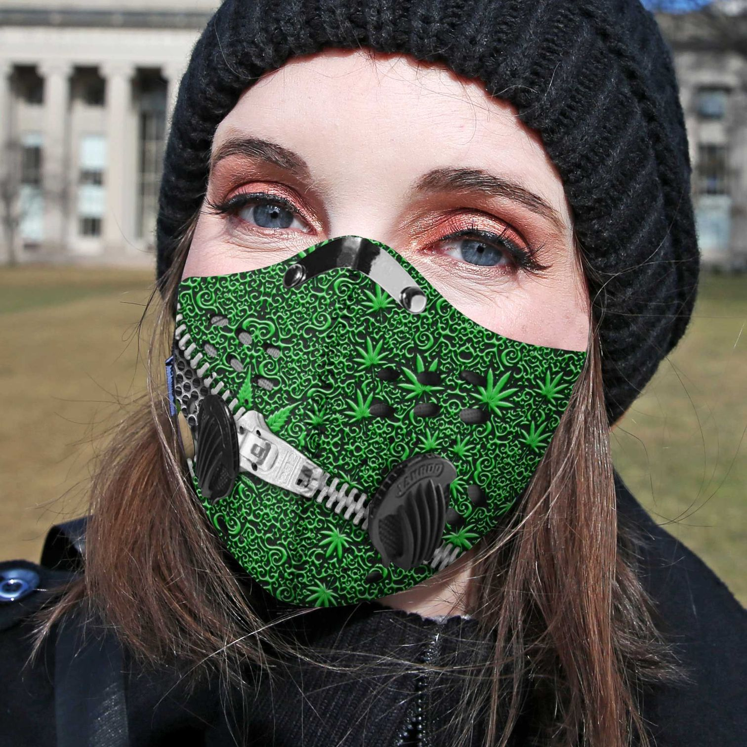 Weed lips cannabis not today carbon pm 2,5 face mask 4