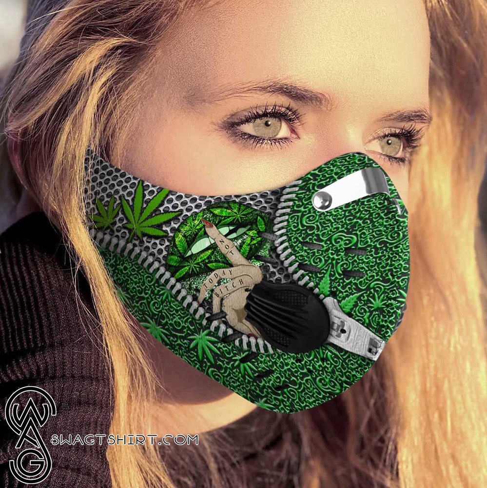 Weed lips cannabis not today carbon pm 2,5 face mask