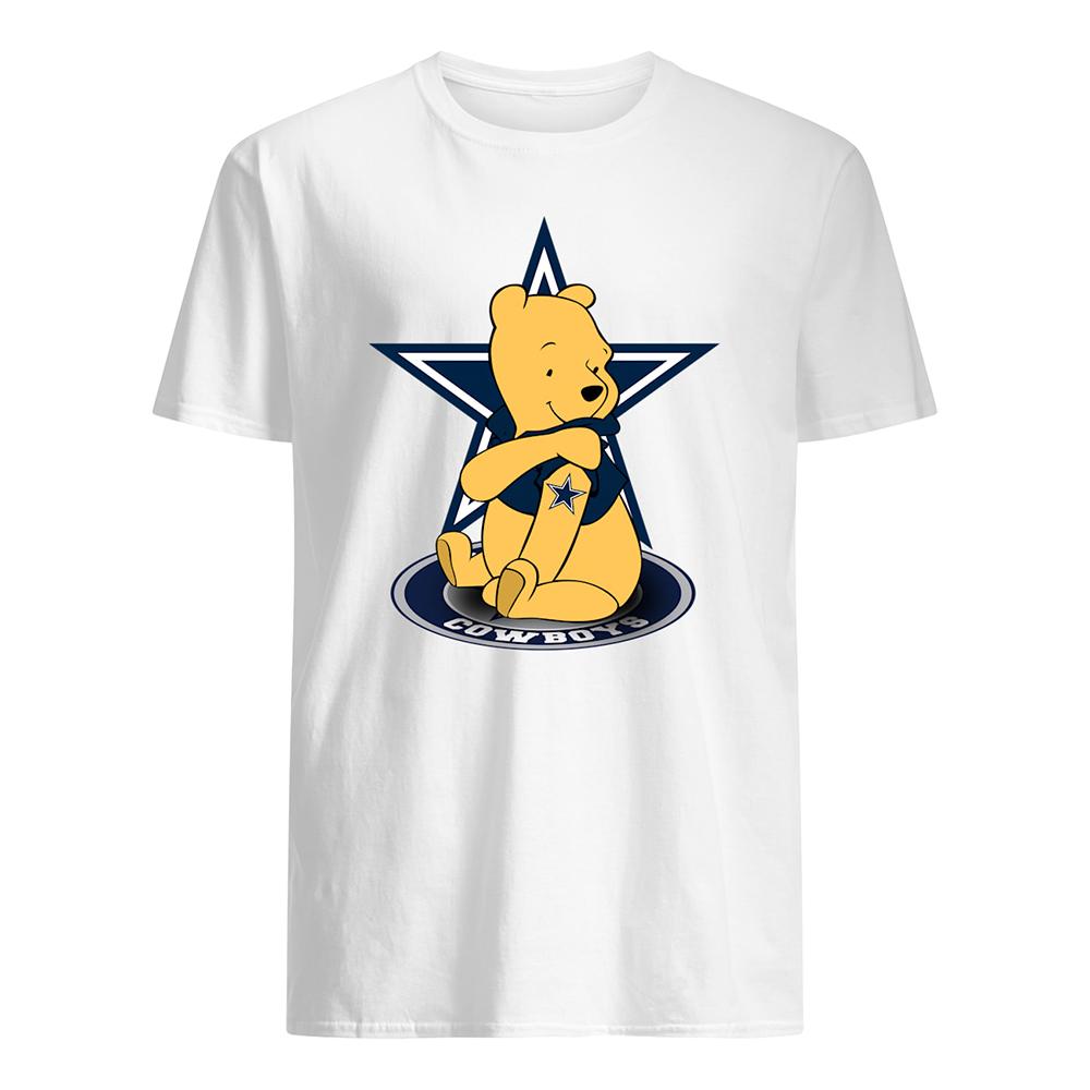 Winnie the pooh dallas cowboys nfl mens shirt