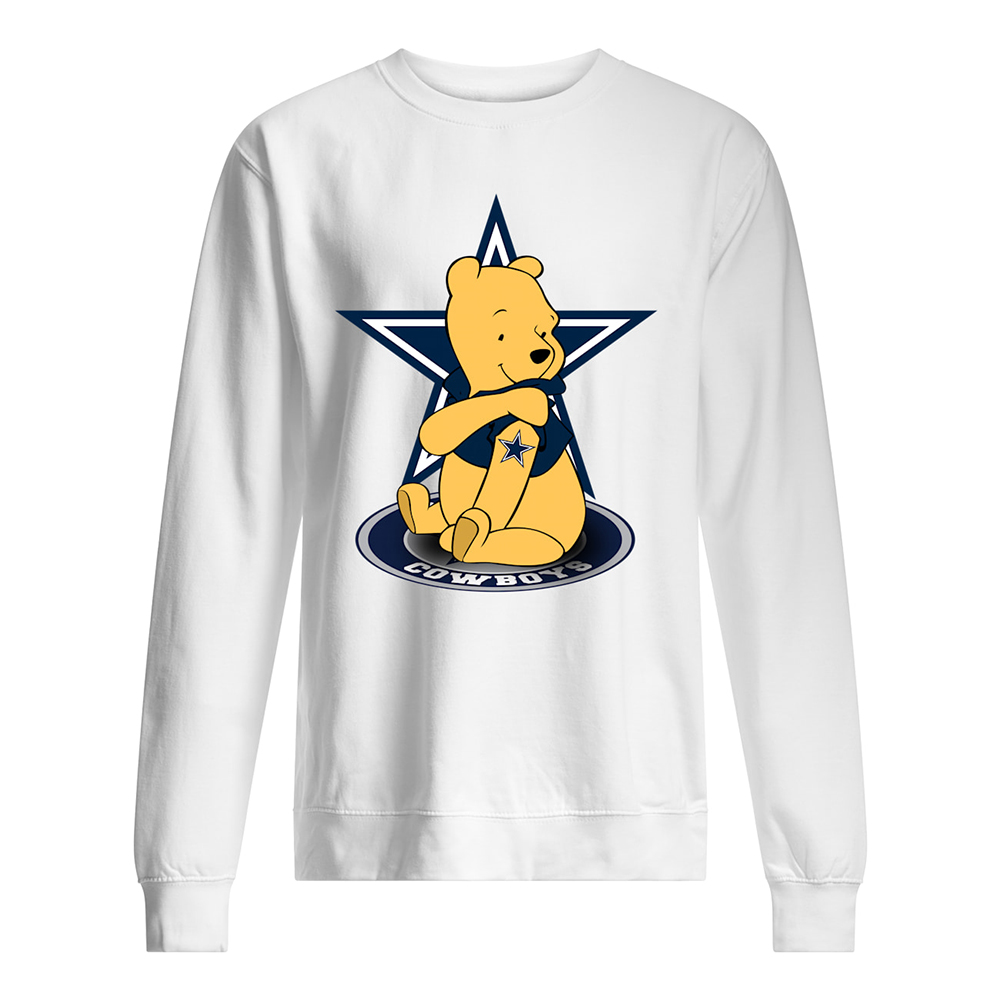 Winnie the pooh dallas cowboys nfl sweatshirt