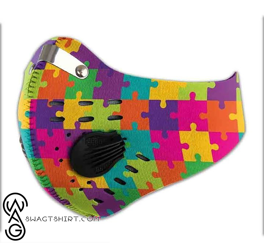 World autism awareness day filter activated carbon face mask