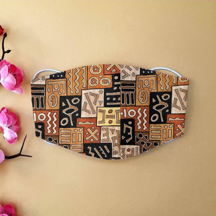 African american pattern anti-dust cotton face mask 1