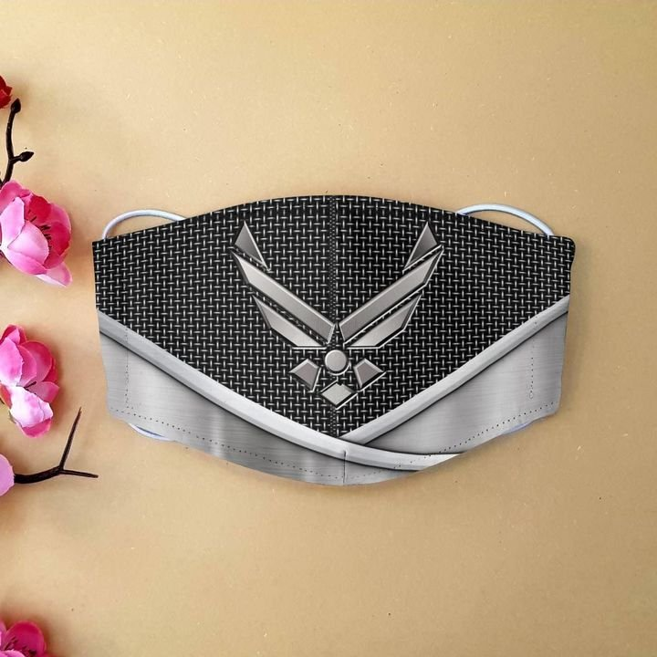 Airforce wings metal anti-dust cotton face mask 1