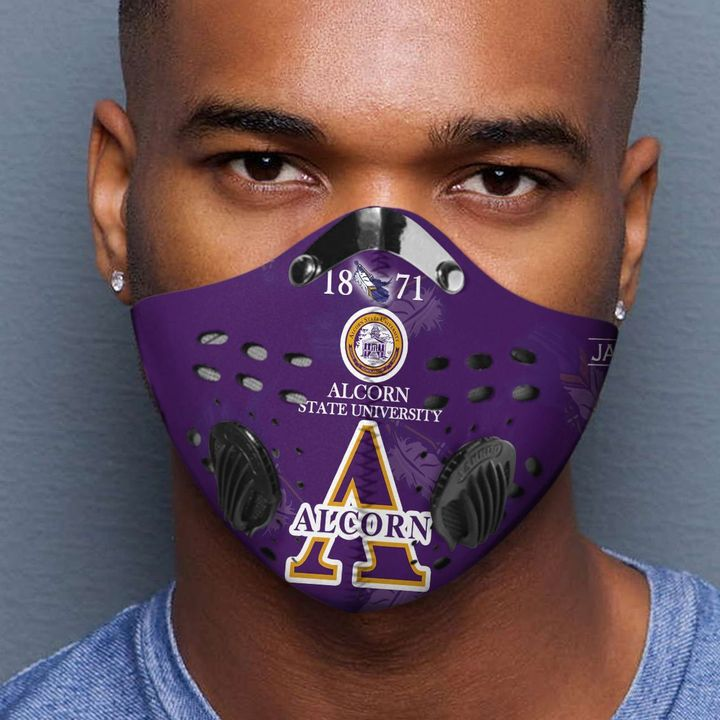Alcorn state university 1871 filter activated carbon face mask 2