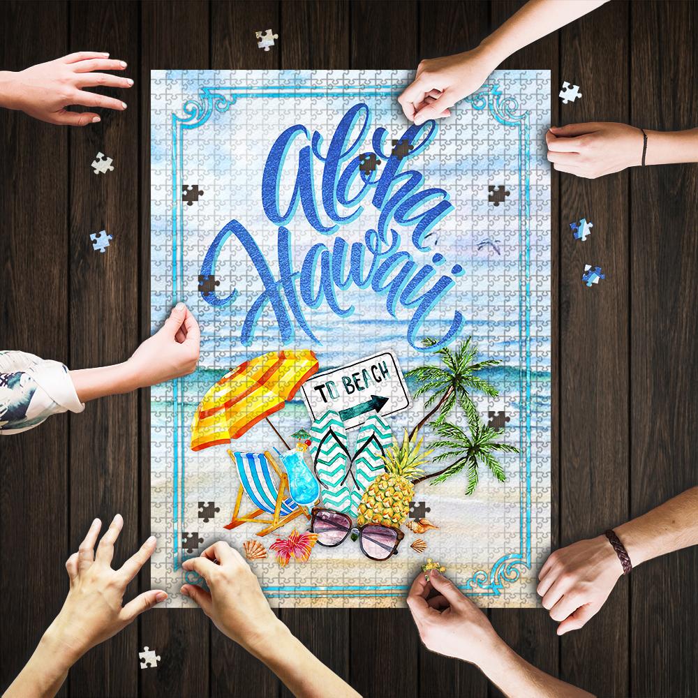 Aloha hawaii to beach jigsaw puzzle 1