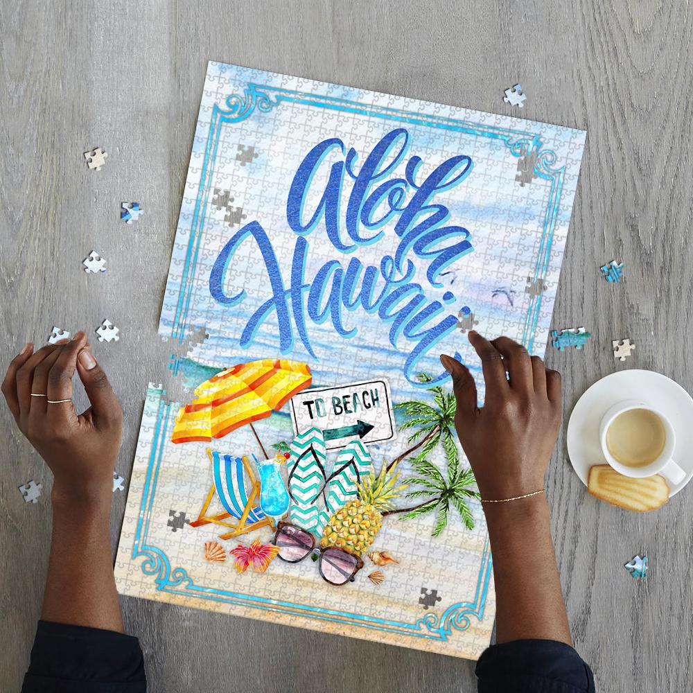 Aloha hawaii to beach jigsaw puzzle 2
