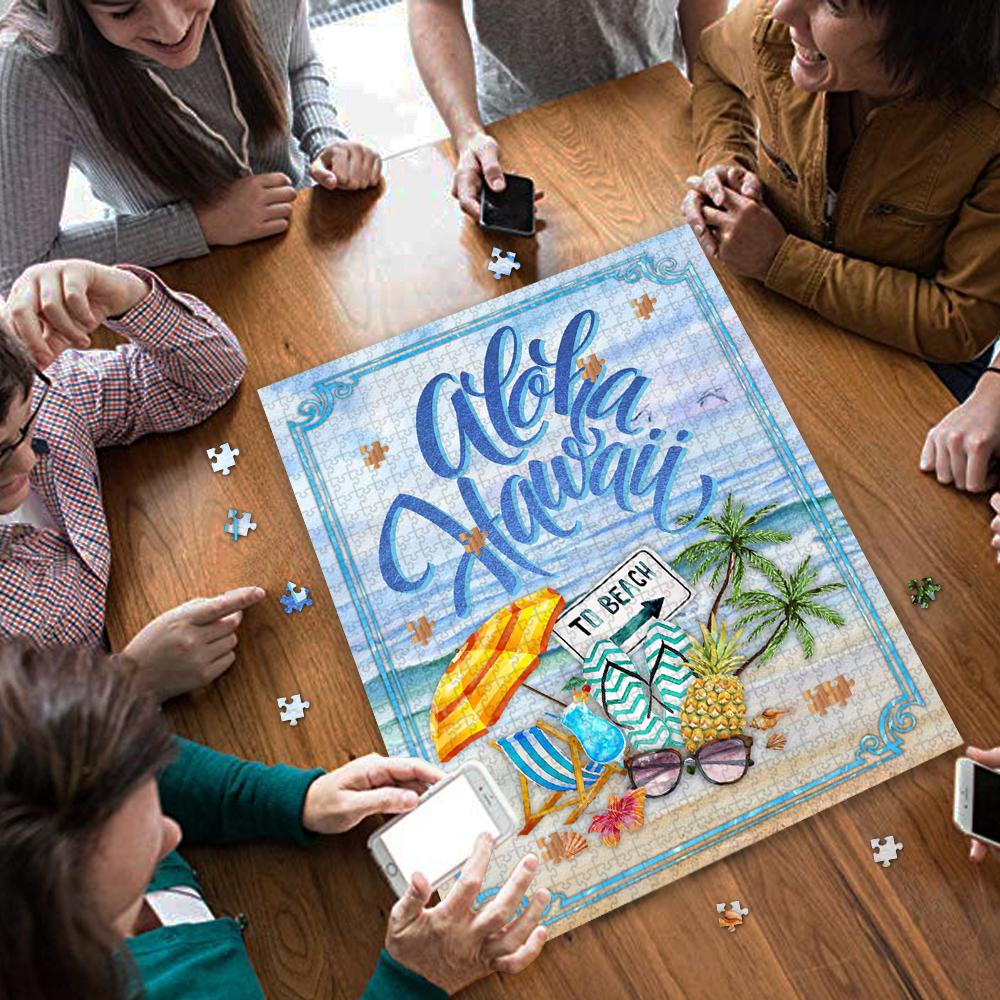 Aloha hawaii to beach jigsaw puzzle 3