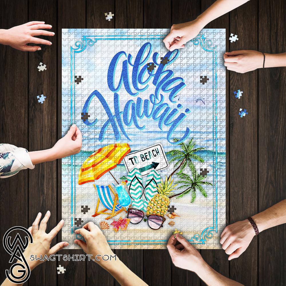Aloha hawaii to beach jigsaw puzzle