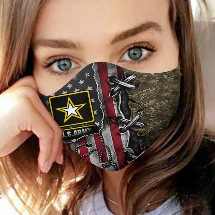 American flag army veteran camo anti-dust cotton face mask 4