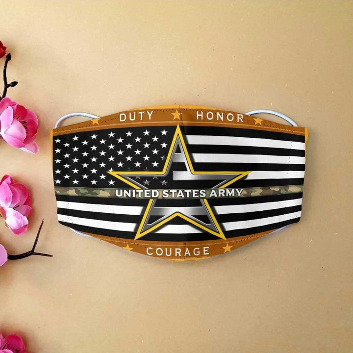 American flag united states army duty honor country face mask 1