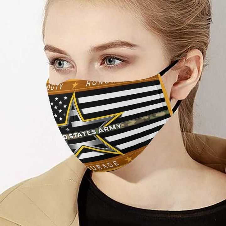 American flag united states army duty honor country face mask 3