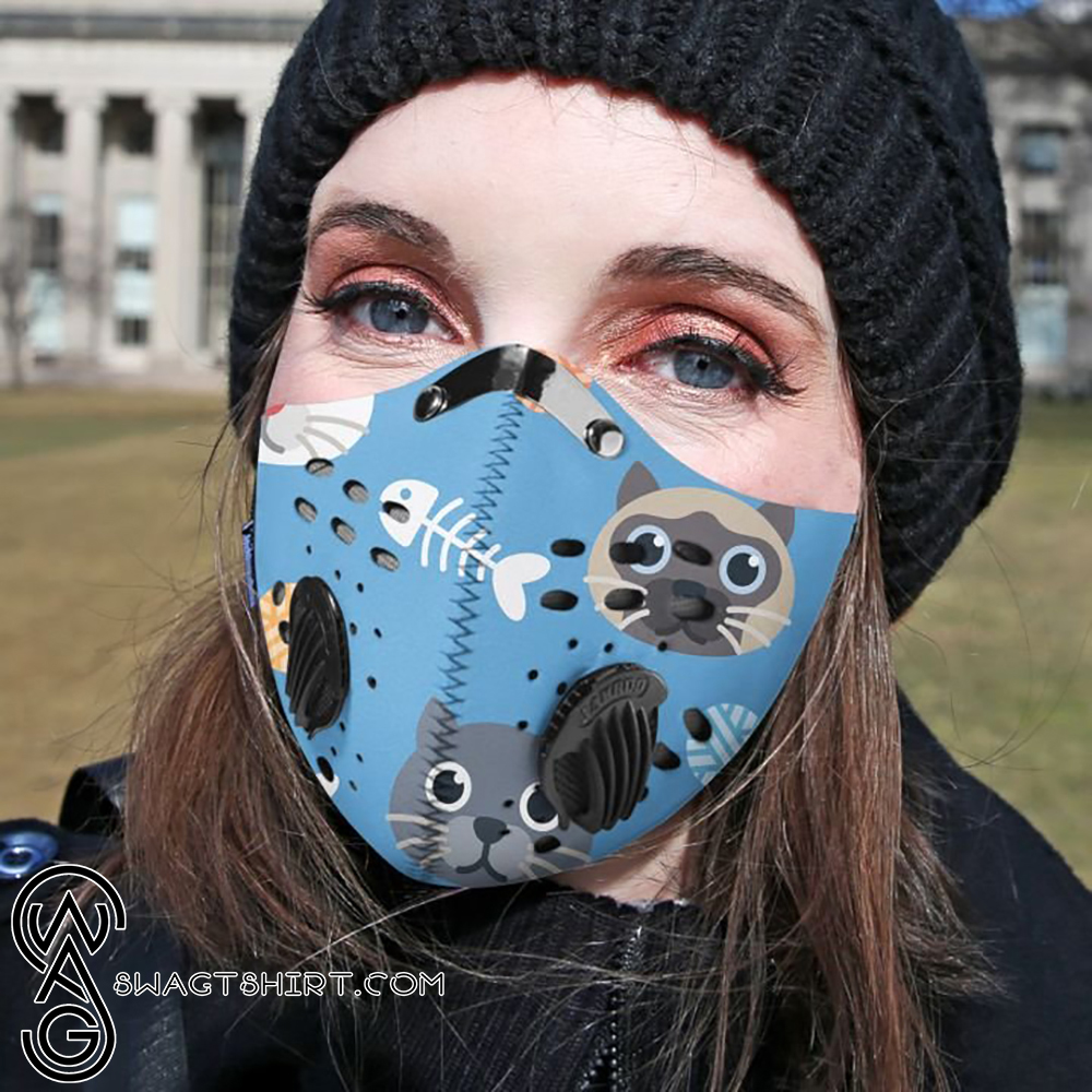 Animated cats filter activated carbon face mask