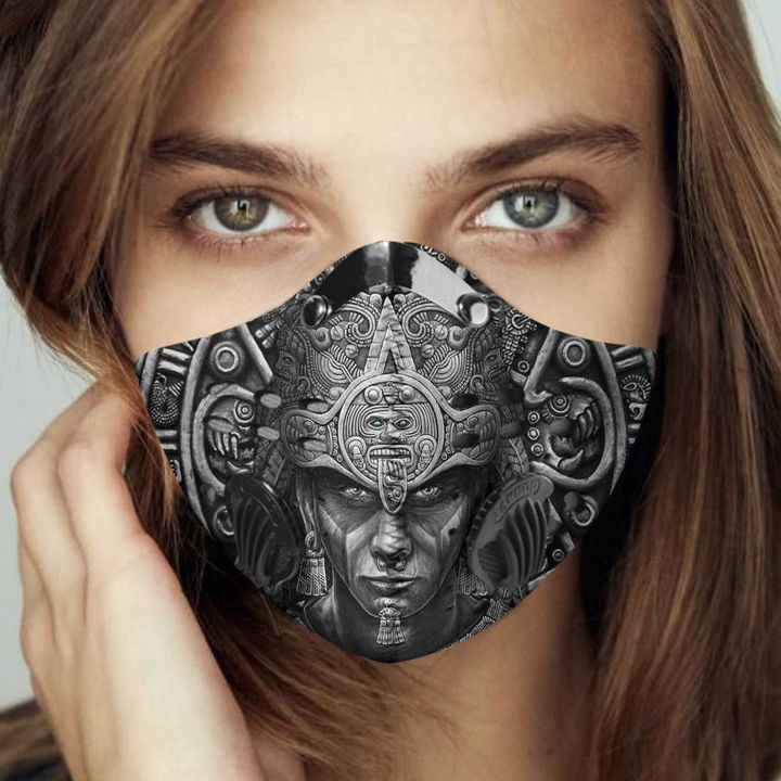 Aztec warrior filter activated carbon face mask 3
