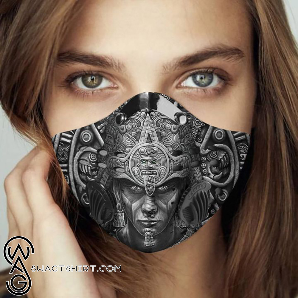 Aztec warrior filter activated carbon face mask