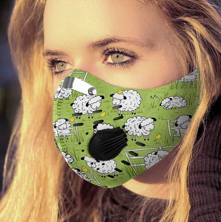 Baby sheep filter activated carbon face mask 1