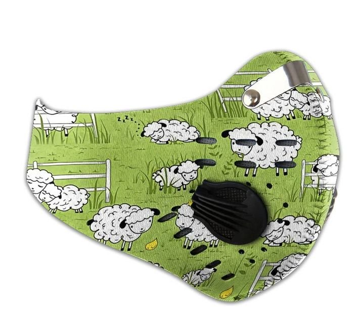 Baby sheep filter activated carbon face mask 4