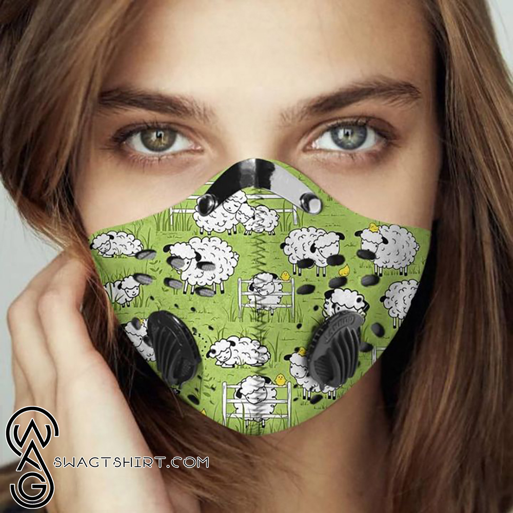 Baby sheep filter activated carbon face mask