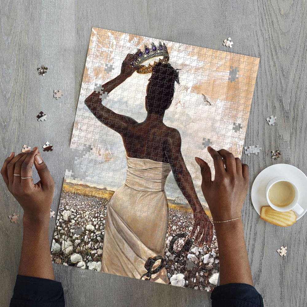 Black queen jigsaw puzzle 4