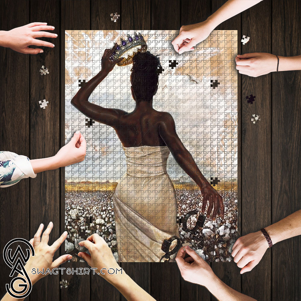 Black queen jigsaw puzzle