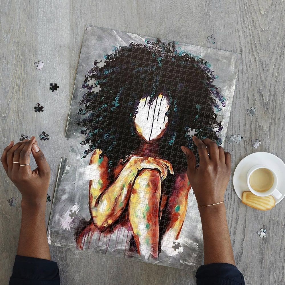 Black queen watercolor jigsaw puzzle 4