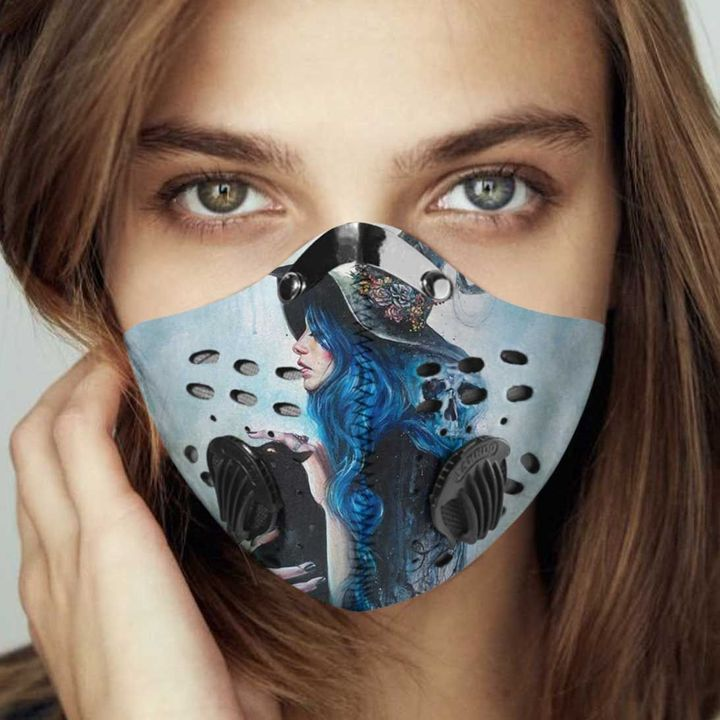 Blue witch filter activated carbon face mask 1
