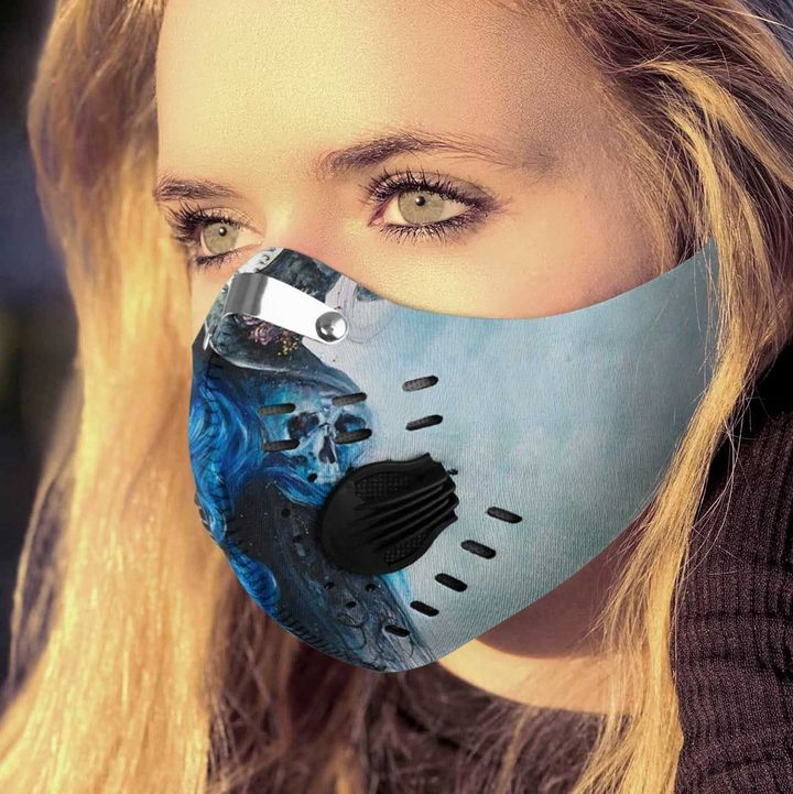 Blue witch filter activated carbon face mask 2