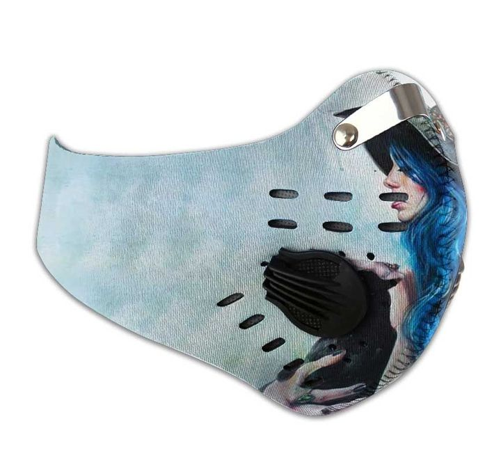 Blue witch filter activated carbon face mask 4