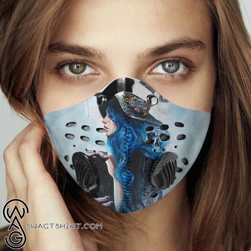 Blue witch filter activated carbon face mask