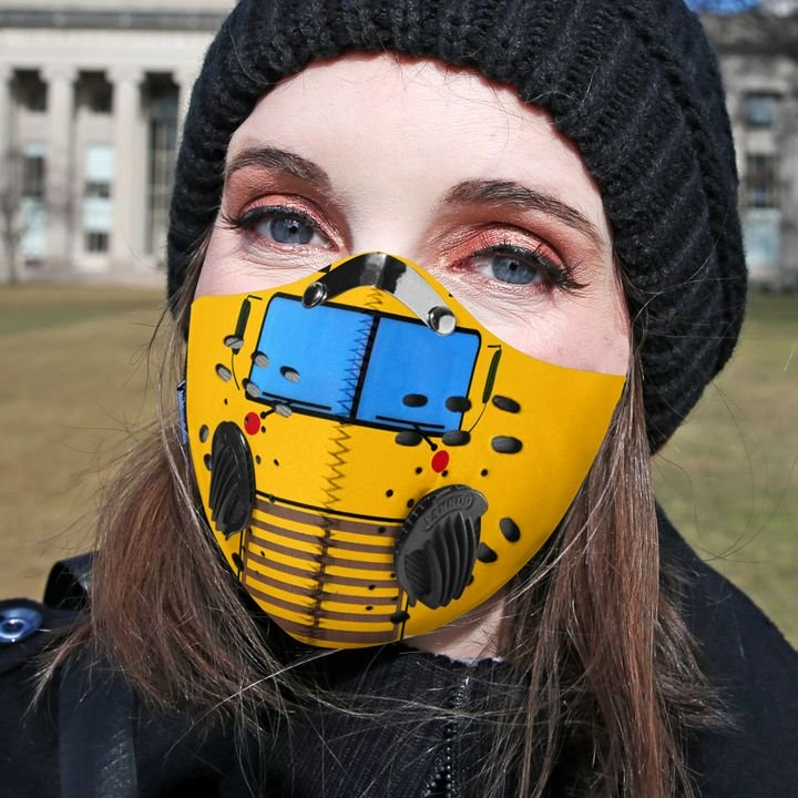 Bus driver filter activated carbon face mask 3