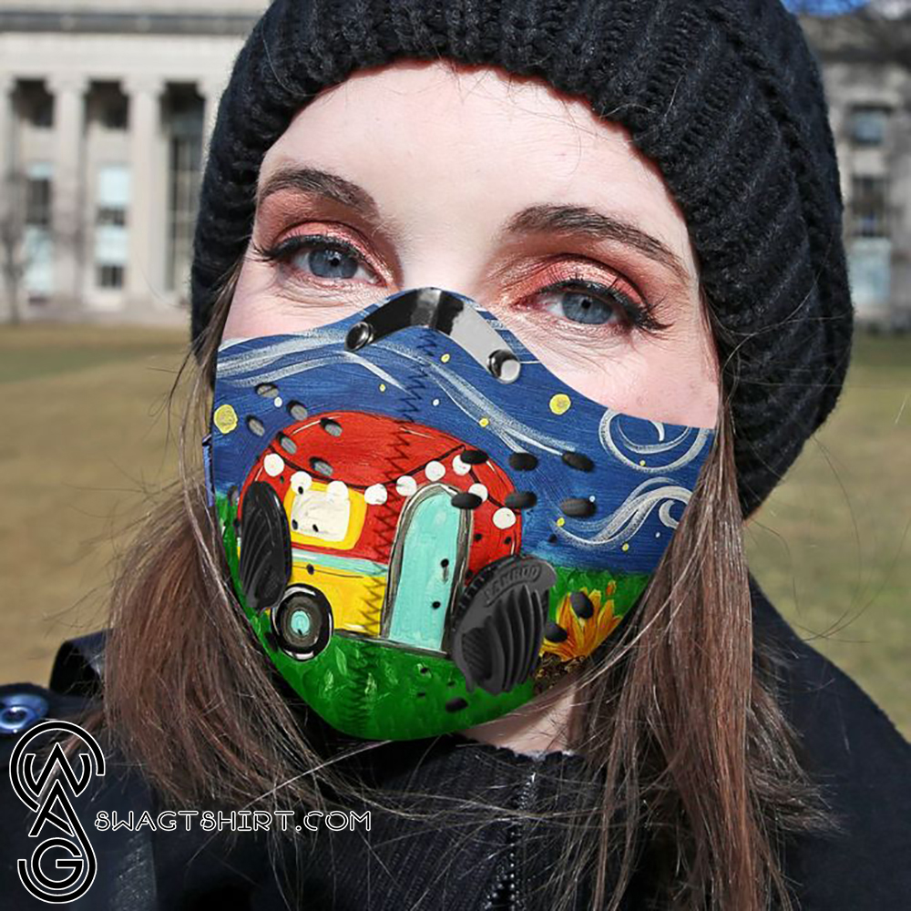 Camping night filter activated carbon face mask