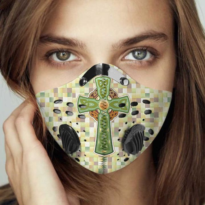 Celtic cross filter activated carbon face mask 1