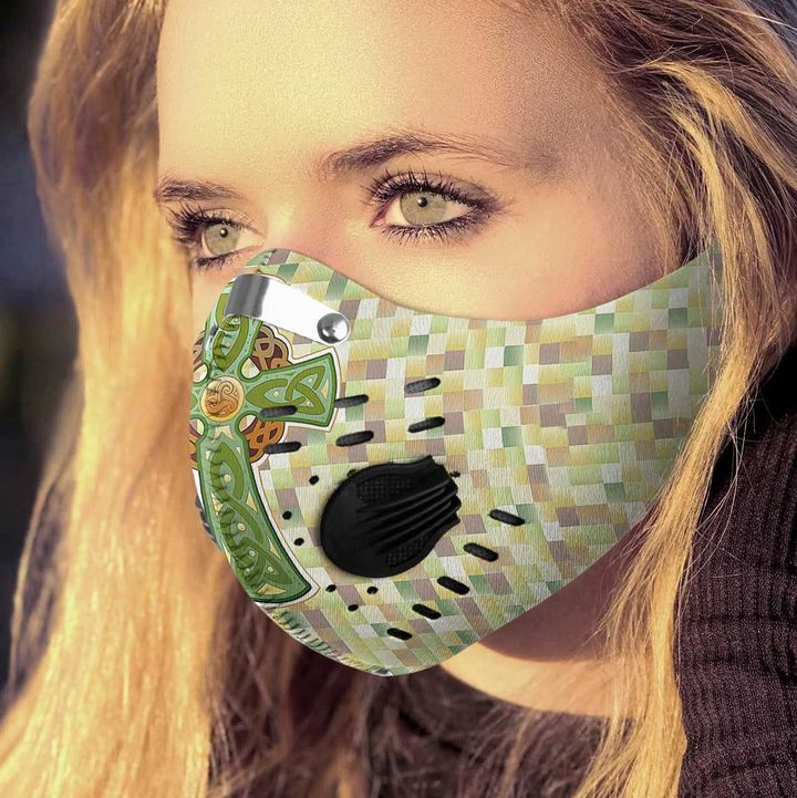 Celtic cross filter activated carbon face mask 4